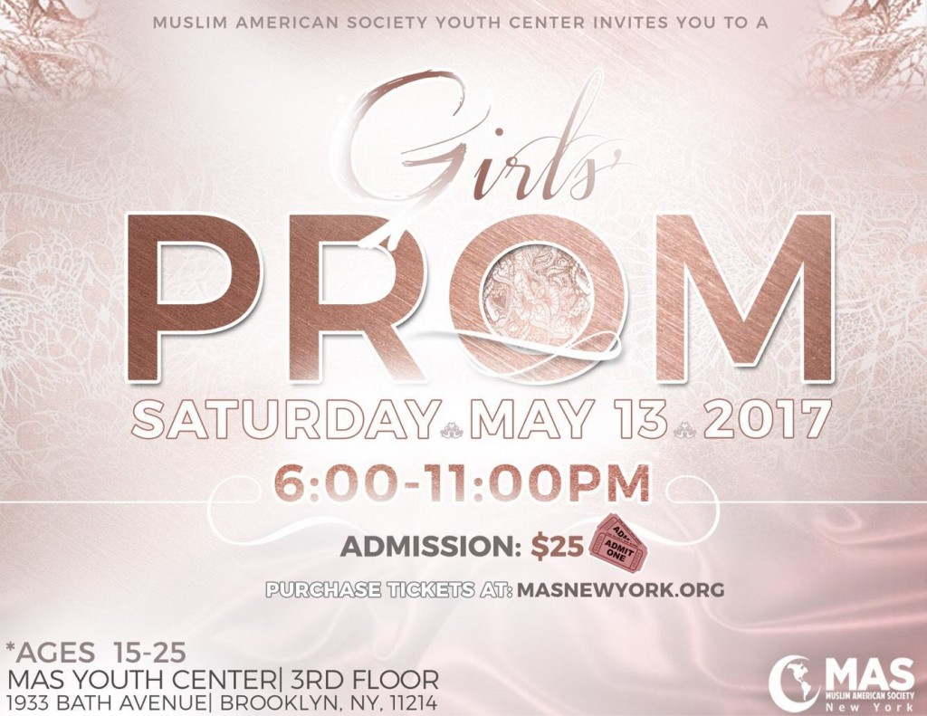 Join us for our first annual MAS Girls' Prom